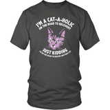 Cat T-Shirt Design - Cat-A-Holic