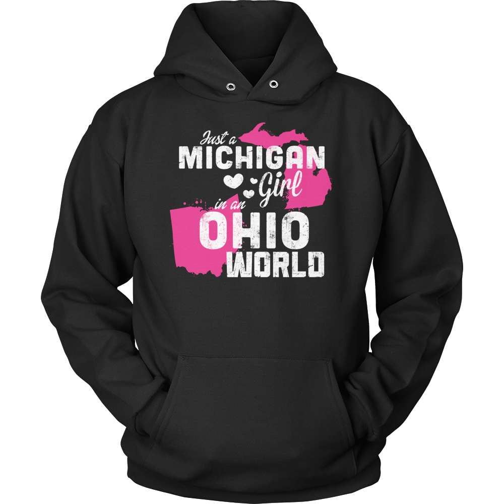 Michigan T-Shirt Design - Michigan Girl Ohio World - snazzyshirtz.com