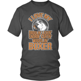 Boxer T-Shirt Design - I Love MY Boxer