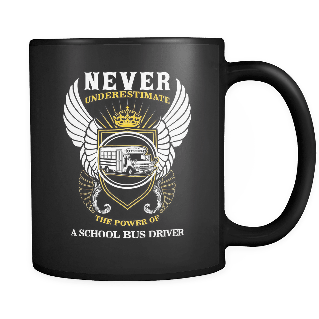 The Power Of A School Bus Driver - Luxury Mug