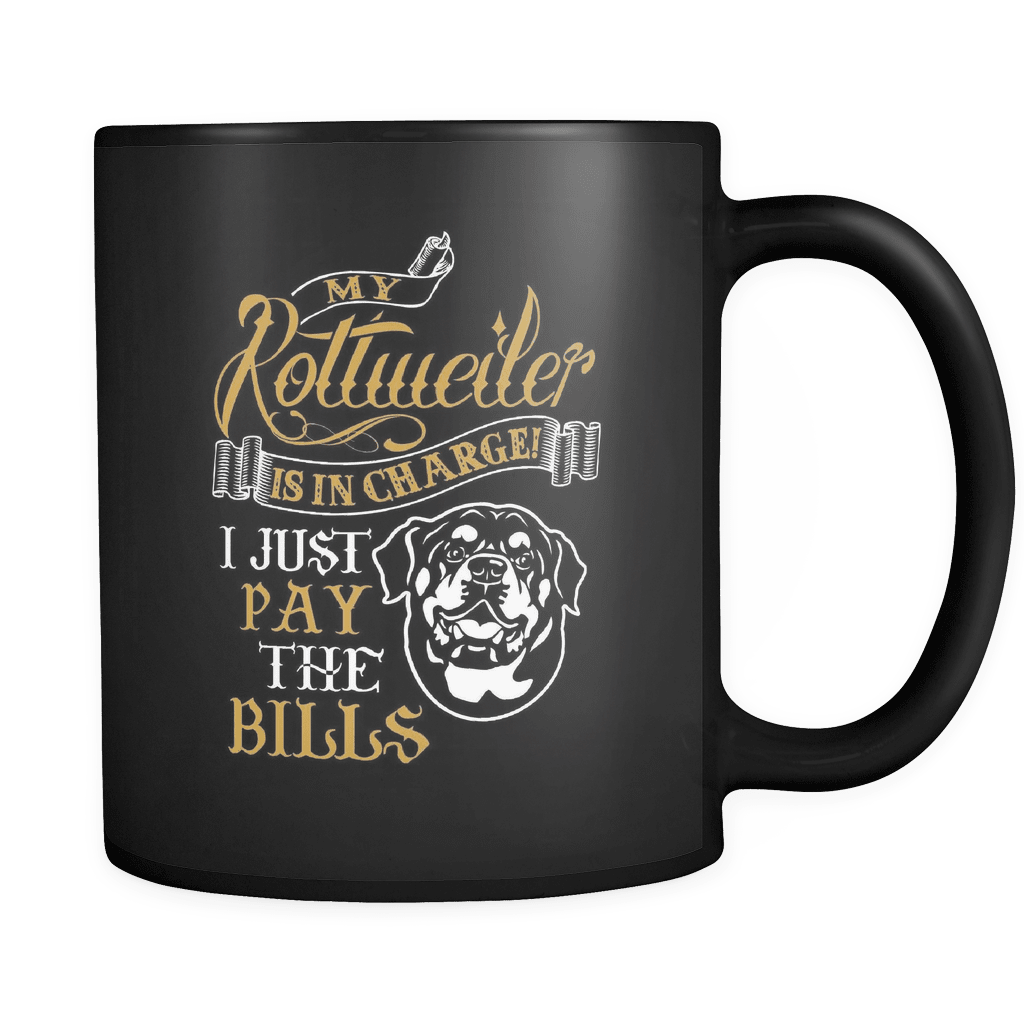 My Rottweiler Is In Charge - Luxury Mug