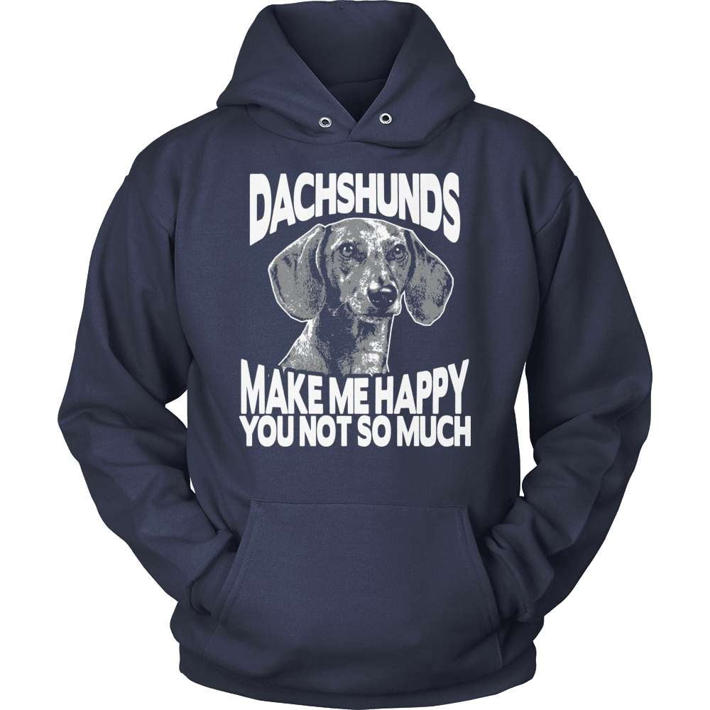 Dachshund T-Shirt Design - Dachshunds Make Me Happy