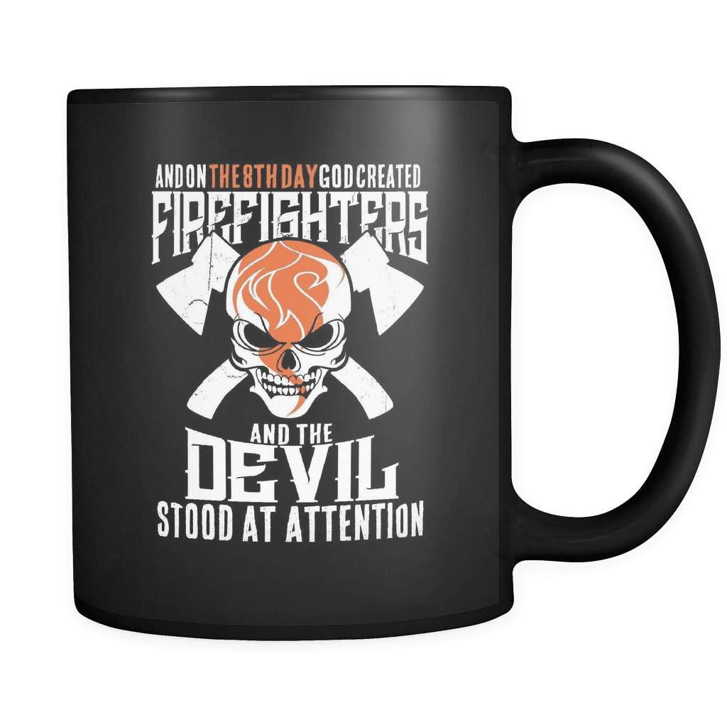 The Devil Stood To Attention - Luxury Firefighter Mug