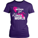 Nevada T-Shirt Design - Nevada Girl Florida World