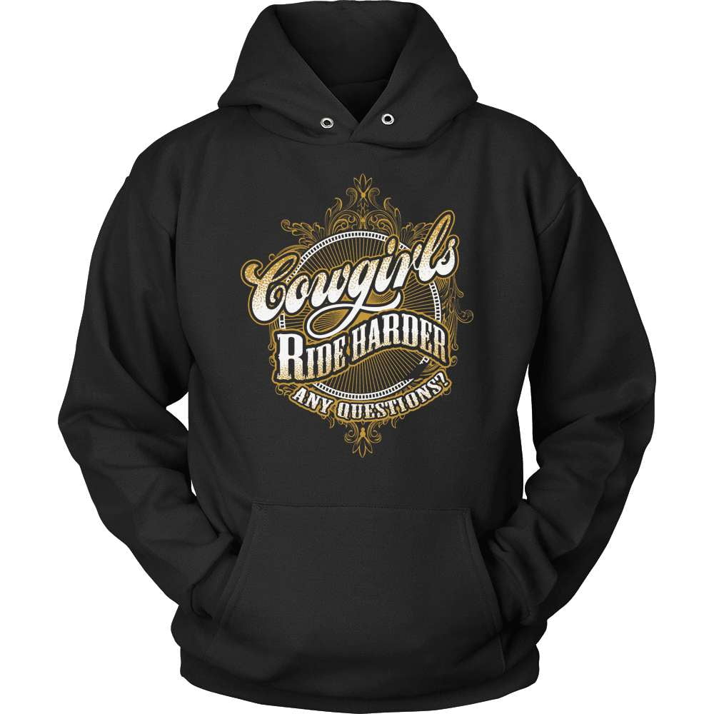Country T-Shirt Design - Cowgirls Ride Harder! - snazzyshirtz.com