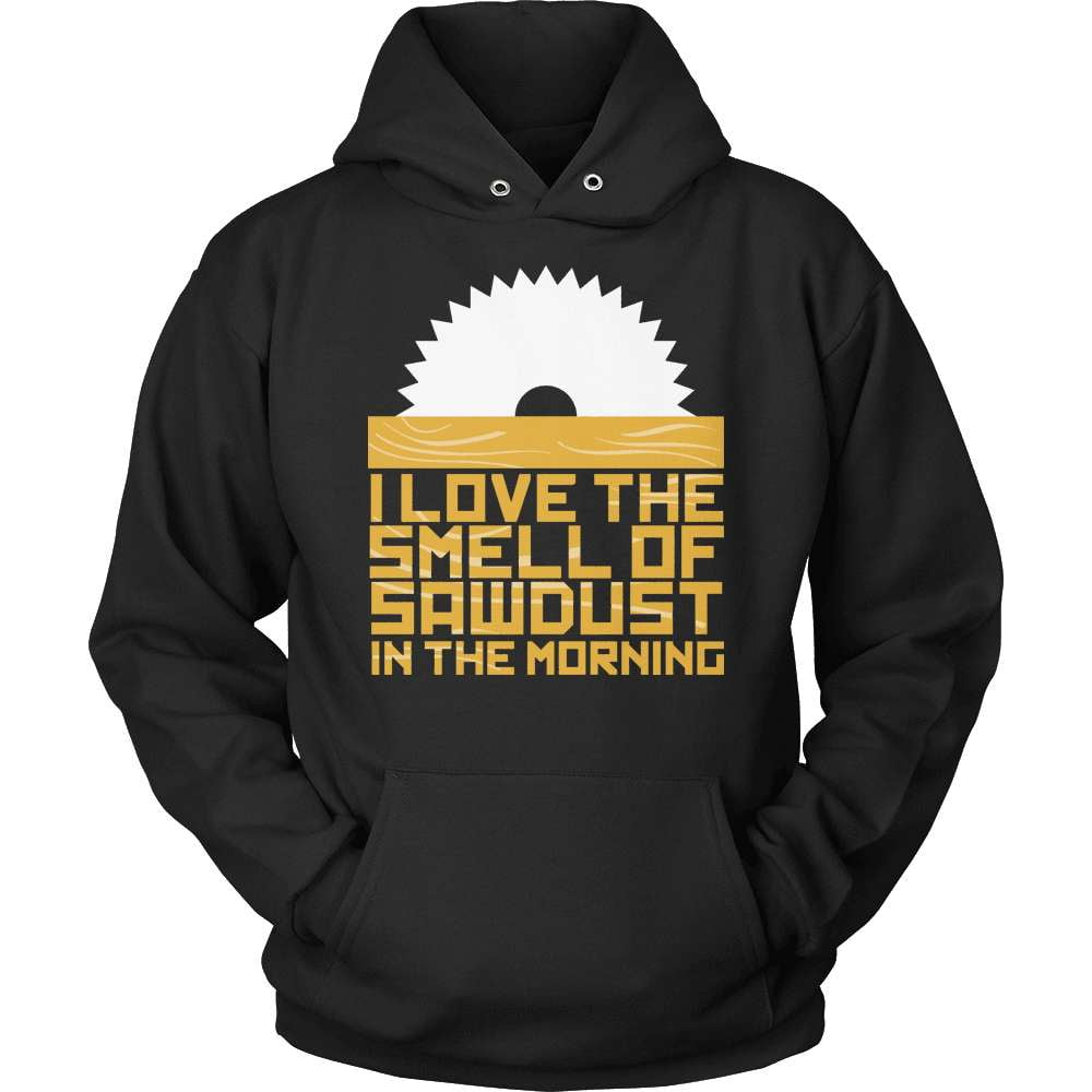 Carpenter T-Shirt Design - Sawdust In The Morning - snazzyshirtz.com