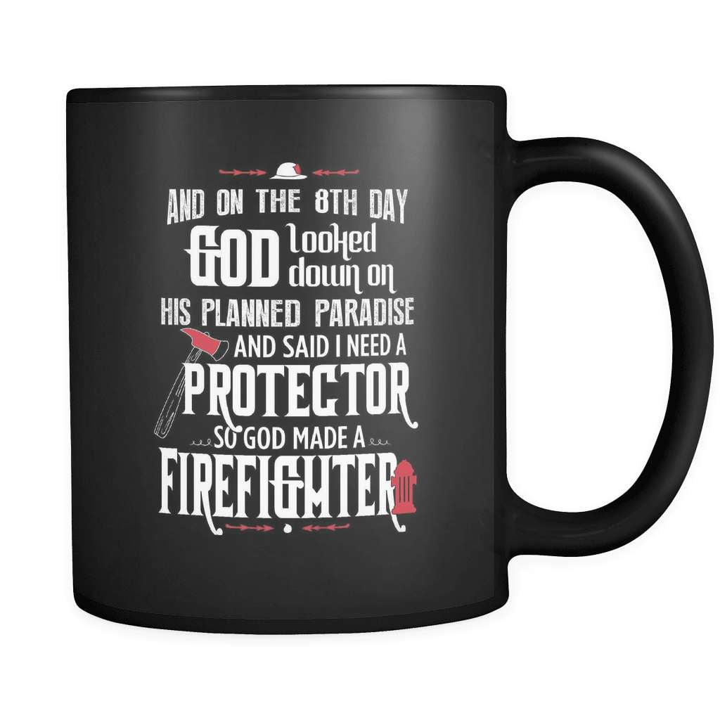And On The 8th Day - Luxury Firefighter Mug