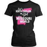 North Carolina T-Shirt Design - North Carolina Girl Missouri World