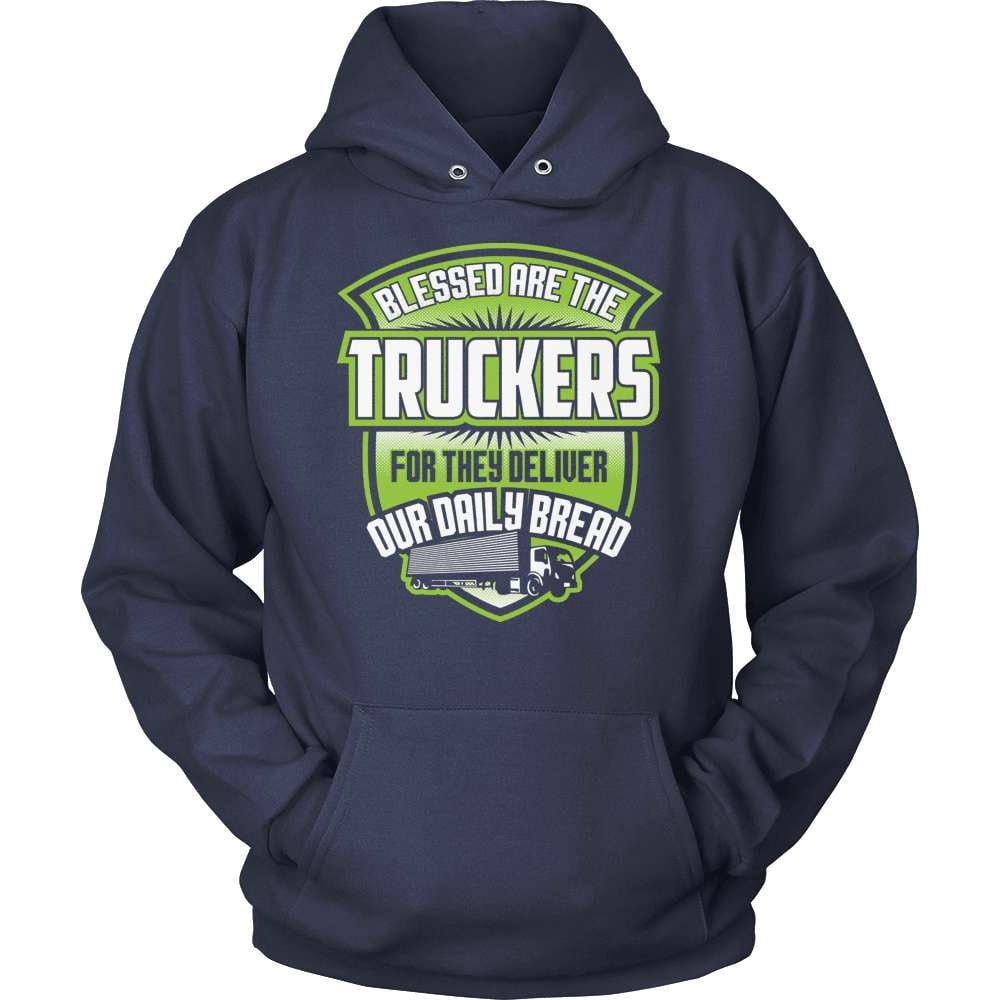 Trucker T-Shirt Design - Blessed Are The Truckers