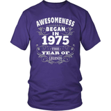 Birthday T-Shirt Design - Awesomeness - 1975