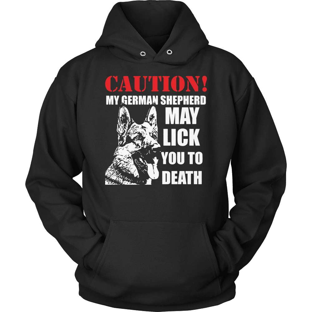 GSD T-Shirt Design - My Shep May Lick You To Death! - snazzyshirtz.com