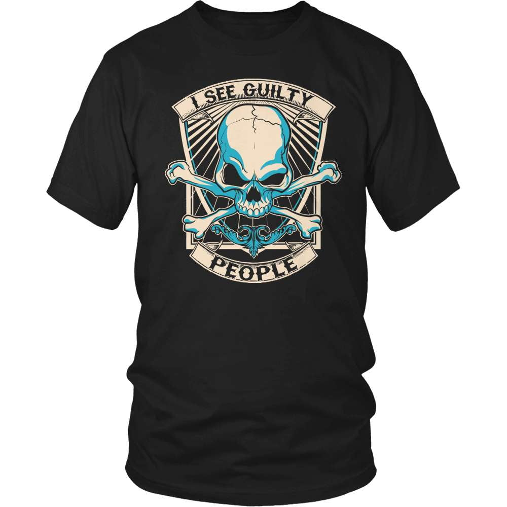 Police T-Shirt Design - I See Guilty People!