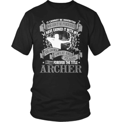Archery T-Shirt Design - Forever The Title - snazzyshirtz.com