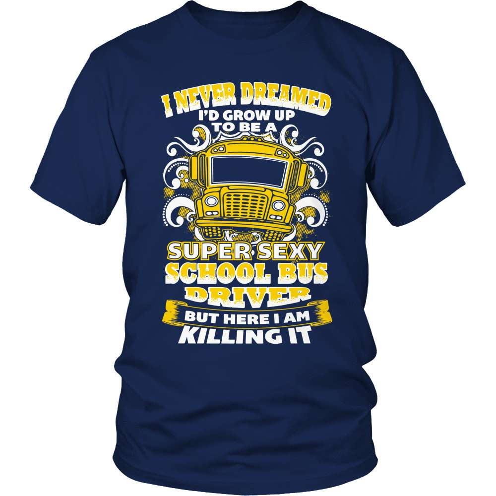 School Bus Driver T-Shirt Design - Sexy Driver