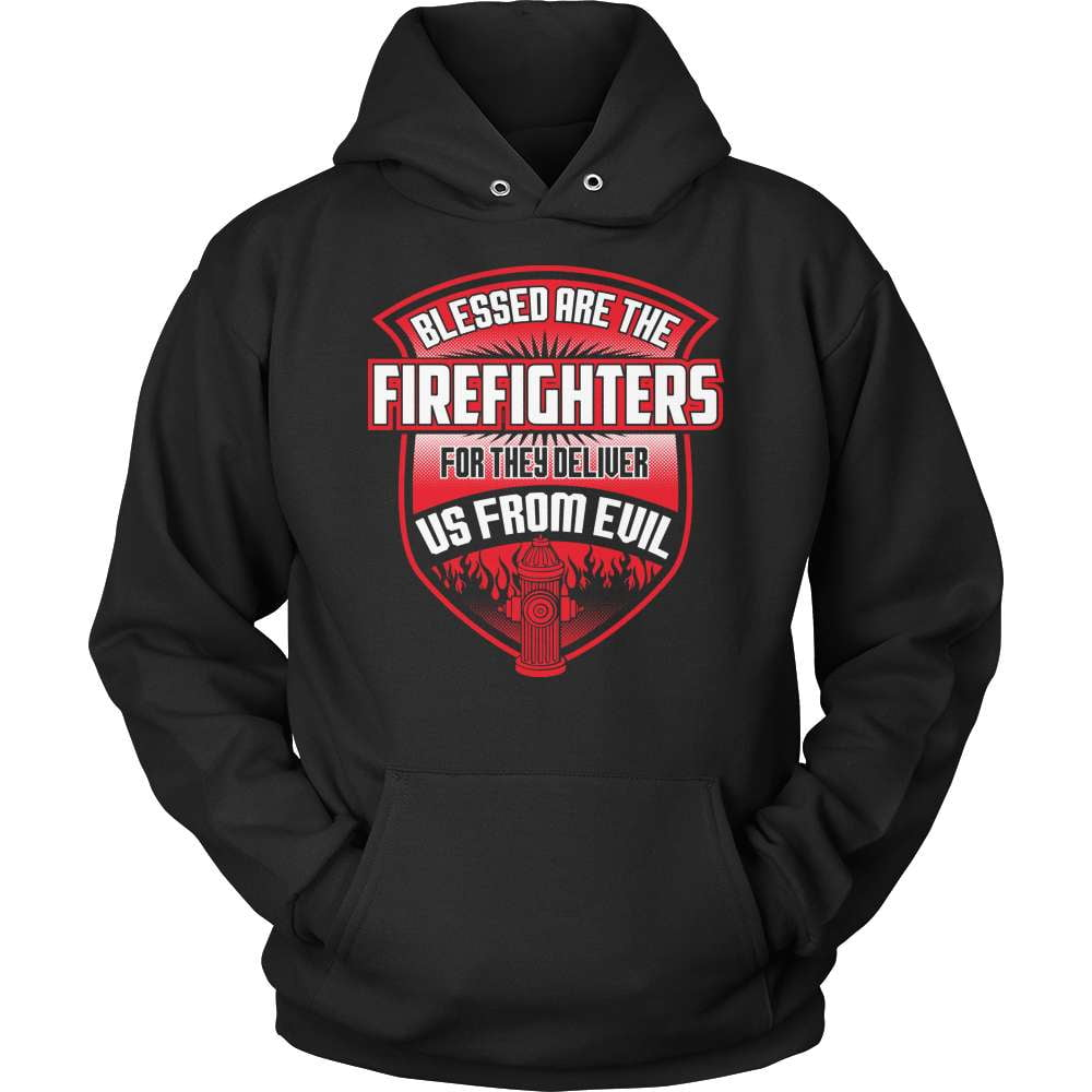 Firefighter T-Shirt Design - Blessed Are The Firefighters! - snazzyshirtz.com