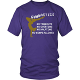 Gymnastics T-Shirt Design - No Wimps Allowed!