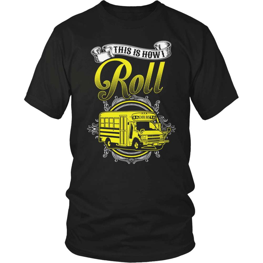 School Bus Driver T-Shirt Design - School Bus Roll - snazzyshirtz.com
