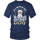 Dog T-Shirt Design - The World Does Revolve Around My Dog