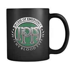 IPA Is My Blood Type! - Luxury Beer Mug