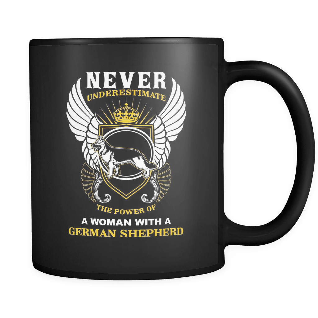 A Woman With A German Shepherd - Luxury Mug