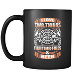 Fire And Beer - Luxury Firefighter Mug