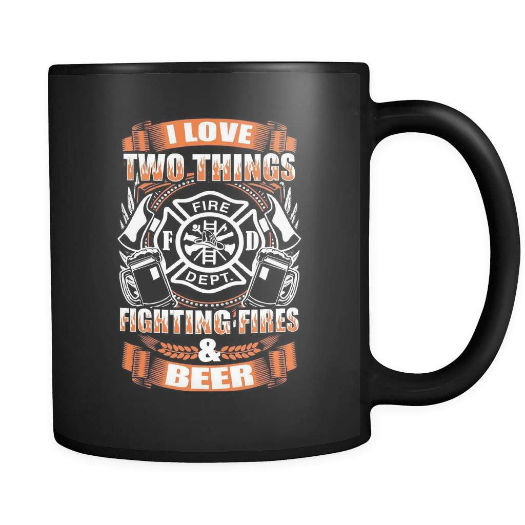 Fire And Beer - Luxury Firefighter Mug - snazzyshirtz.com