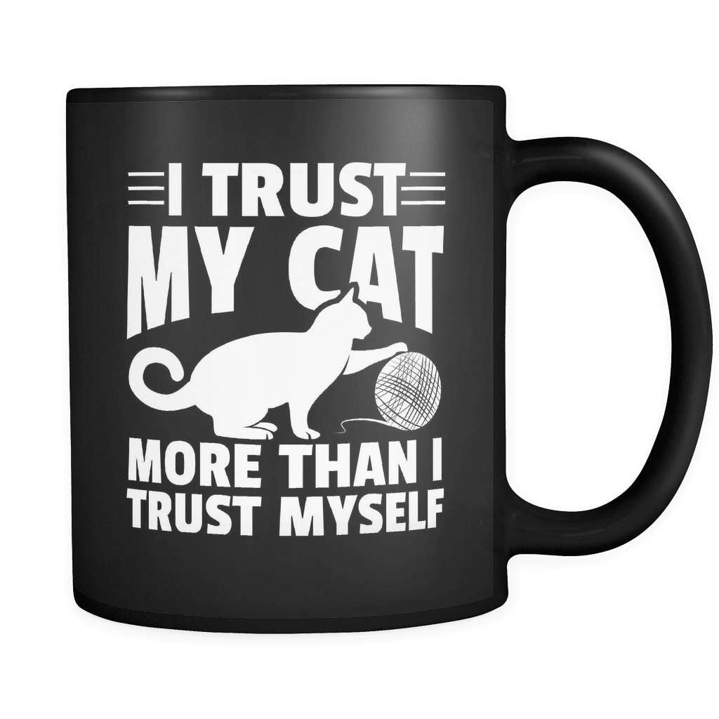 I Trust My Cat - Luxury Mug - snazzyshirtz.com