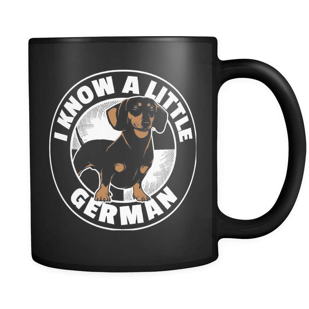I Know A Little German - Luxury Dachshund Mug
