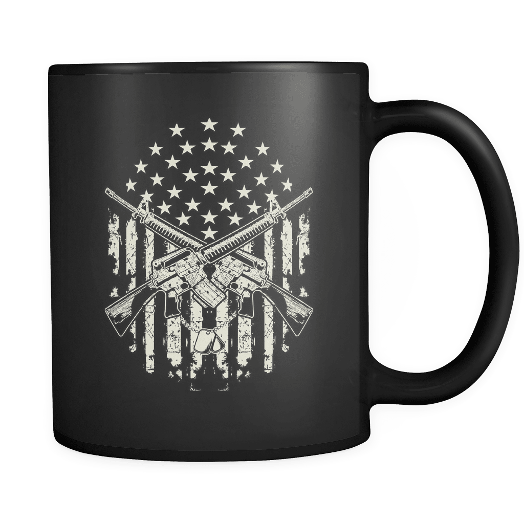 Crossed Guns - Luxury Veteran Mug