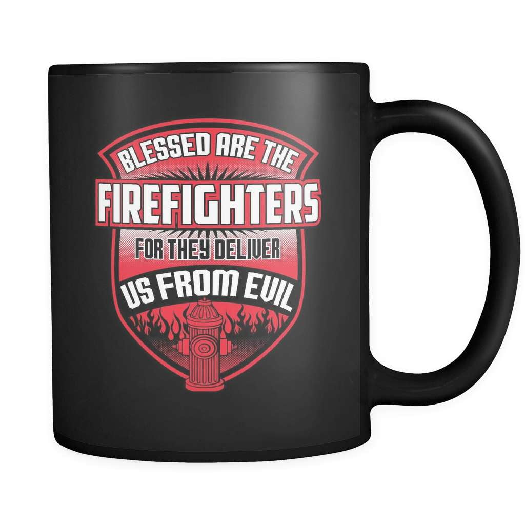 Blessed Are The Firefighters - Luxury Mug - snazzyshirtz.com
