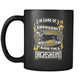 My Blood Type Is Dachshund - Luxury Mug