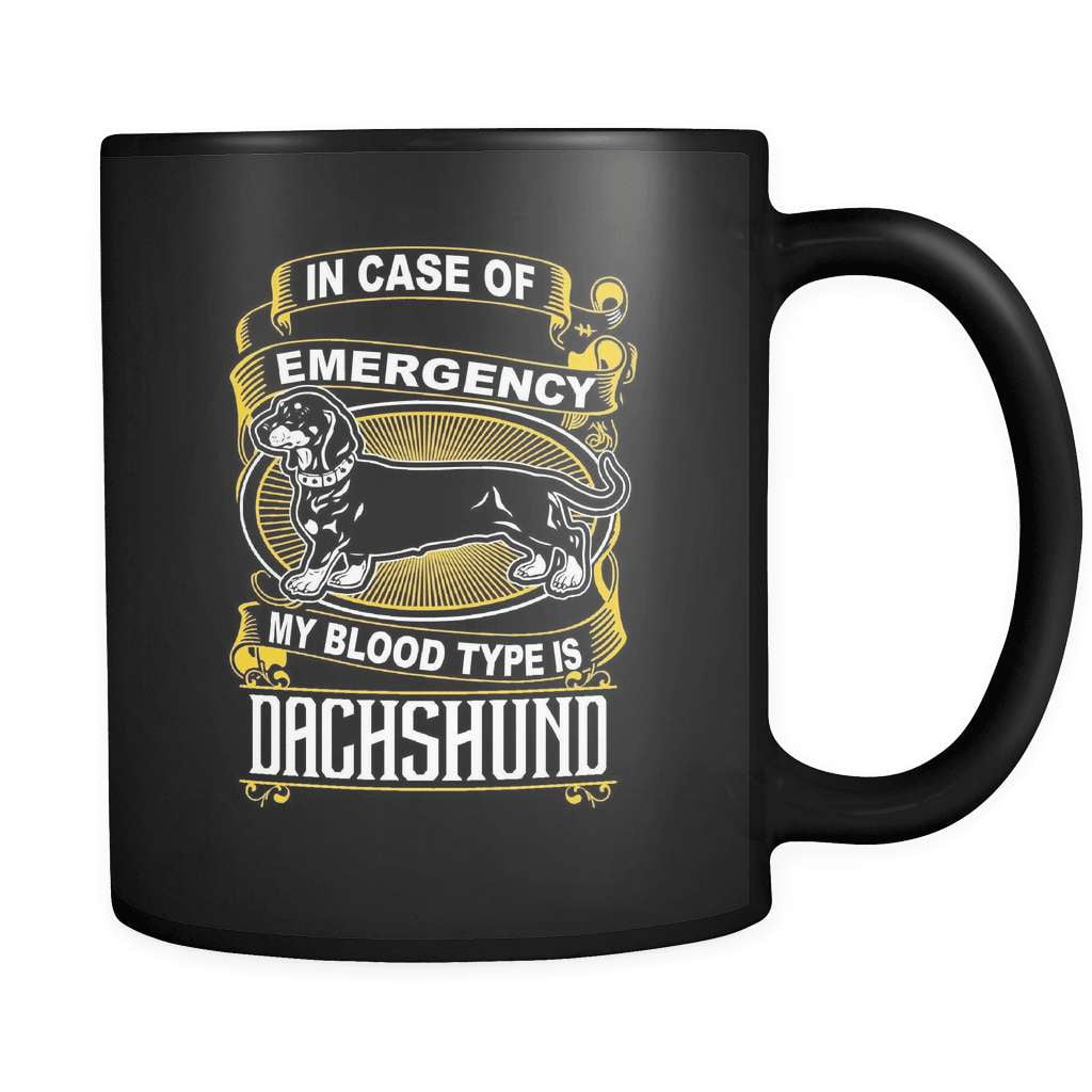 My Blood Type Is Dachshund - Luxury Mug - snazzyshirtz.com
