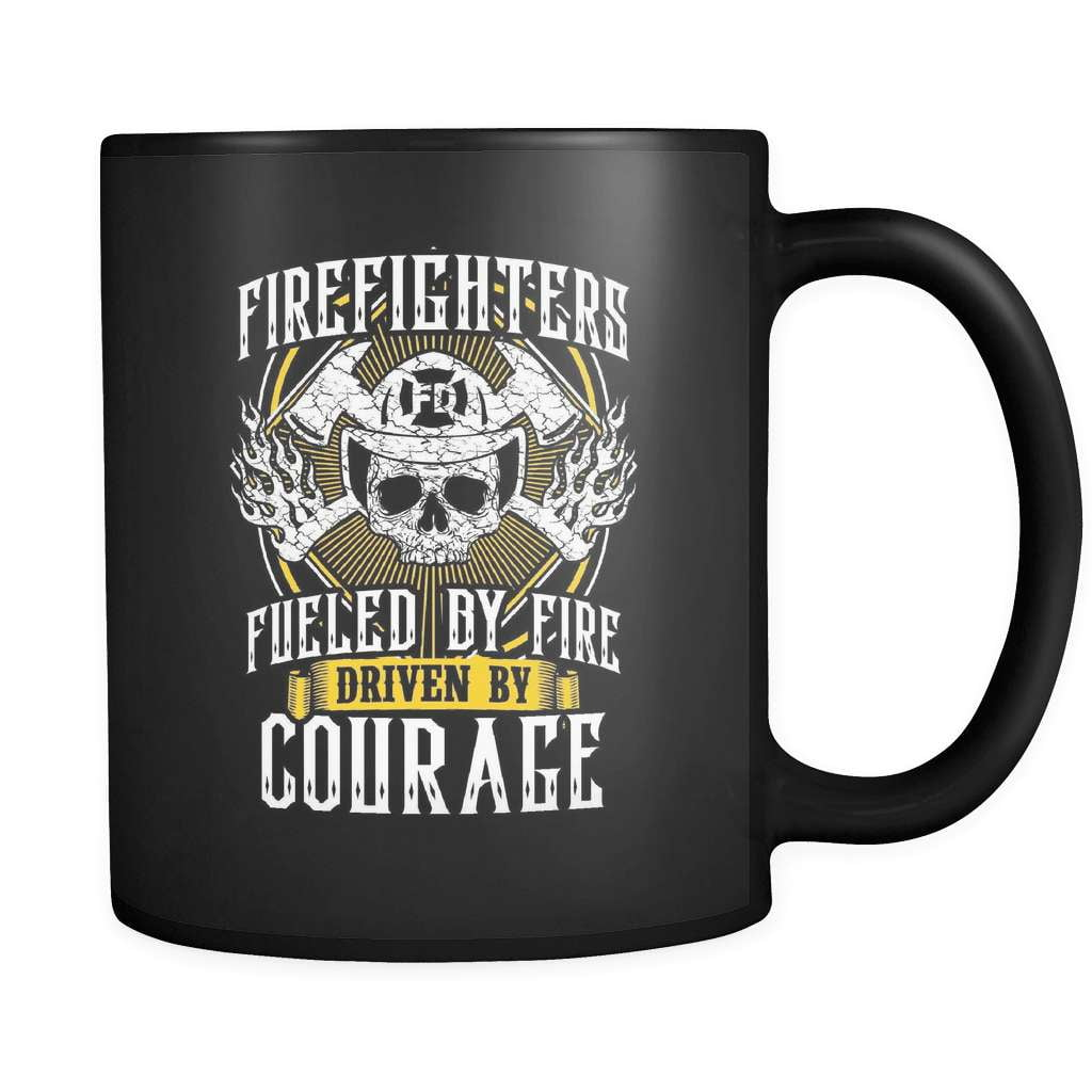 Driven By Courage - Luxury Firefighter Mug