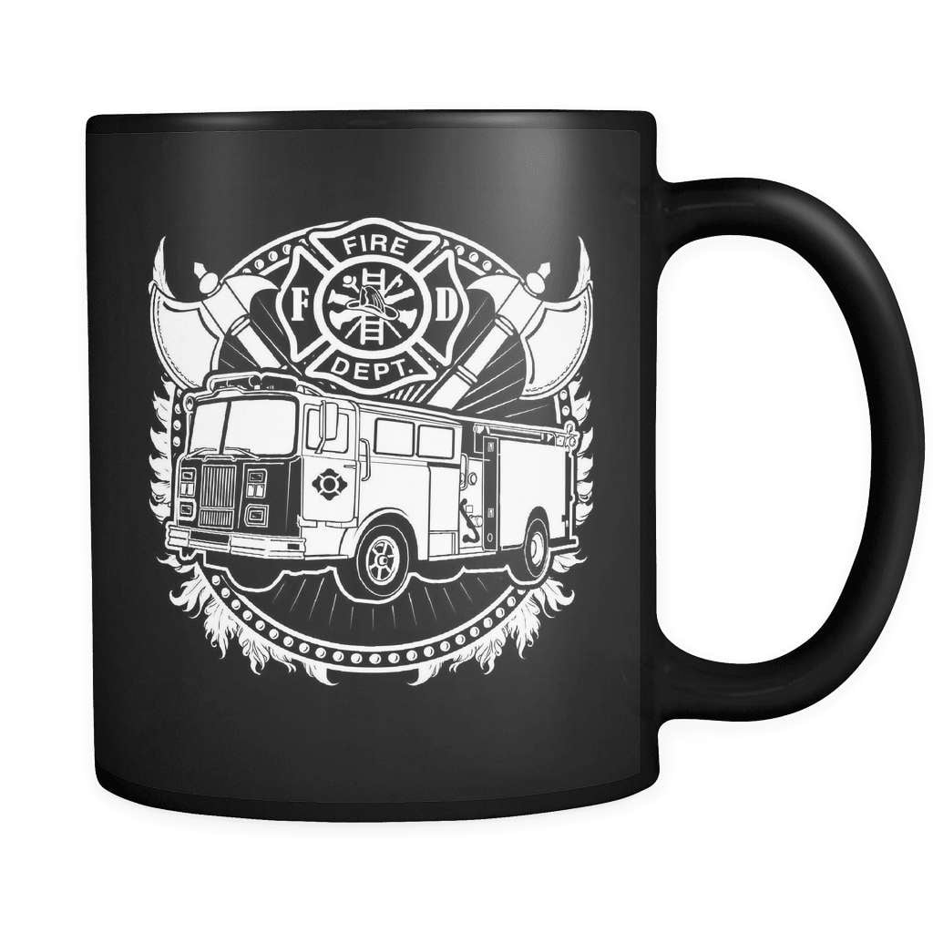 Badge Of Honor - Luxury Firefighter Mug - snazzyshirtz.com