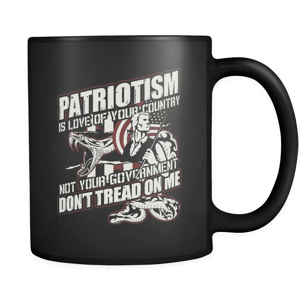 Patriotism Is Love Of Your Country - Luxury Gun Mug - snazzyshirtz.com