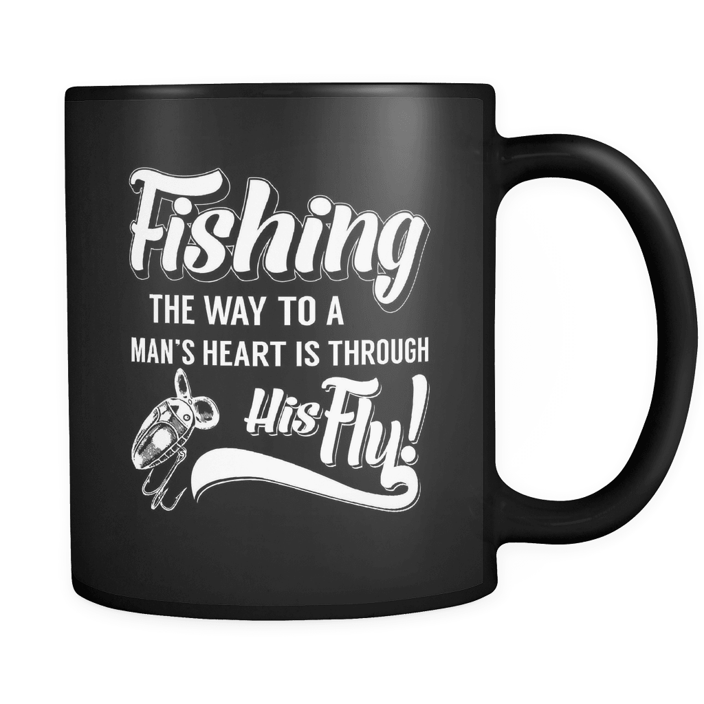 Through His Fly! - Luxury Fishing Mug