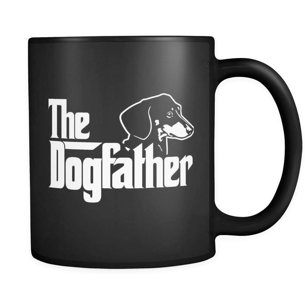 The Dogfather - Luxury Dachshund Mug - snazzyshirtz.com