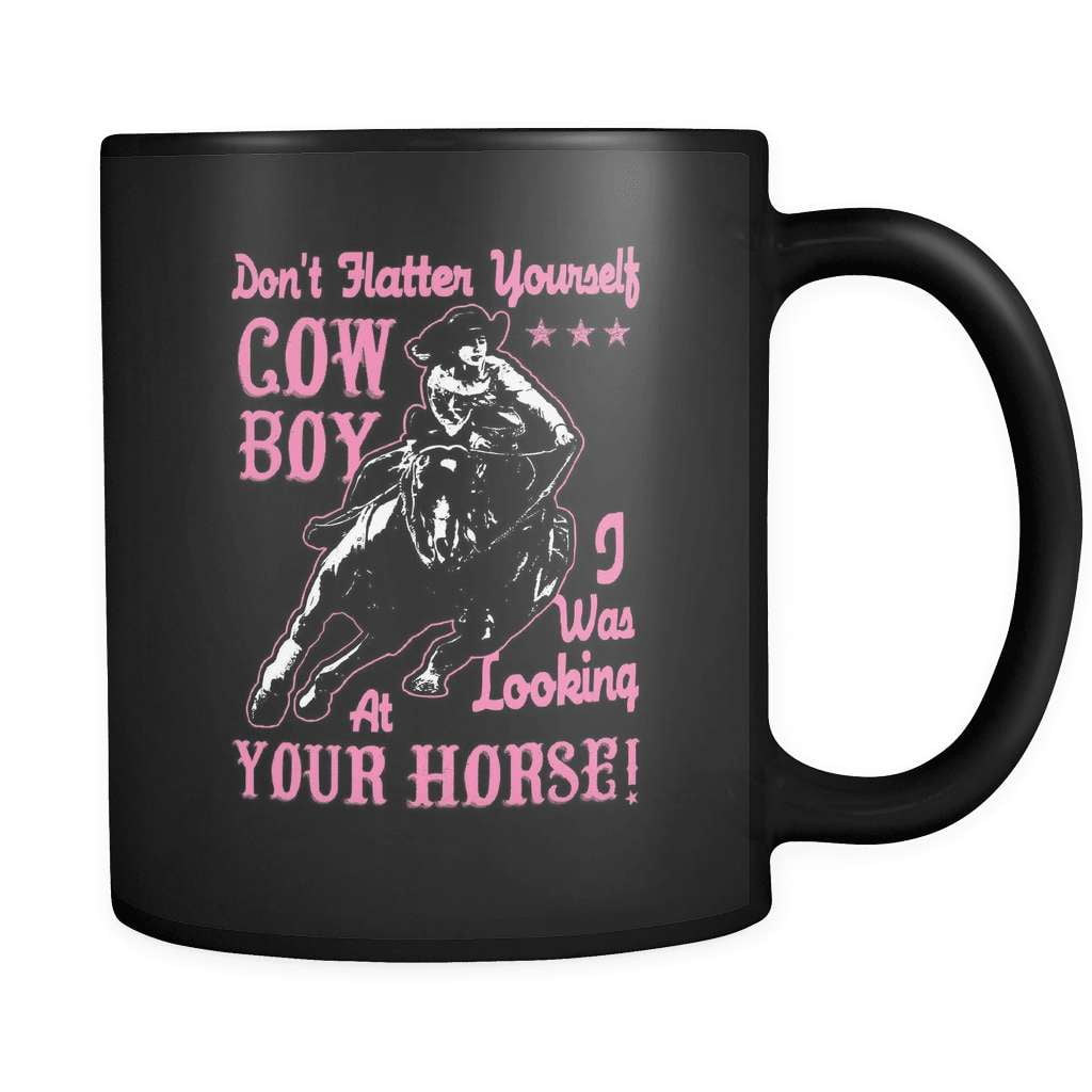Don't Flatter Yourself - Luxury Country Mug - snazzyshirtz.com