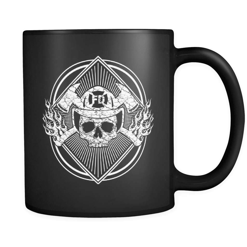 Fueled By Fire - Luxury Firefighter Mug - snazzyshirtz.com