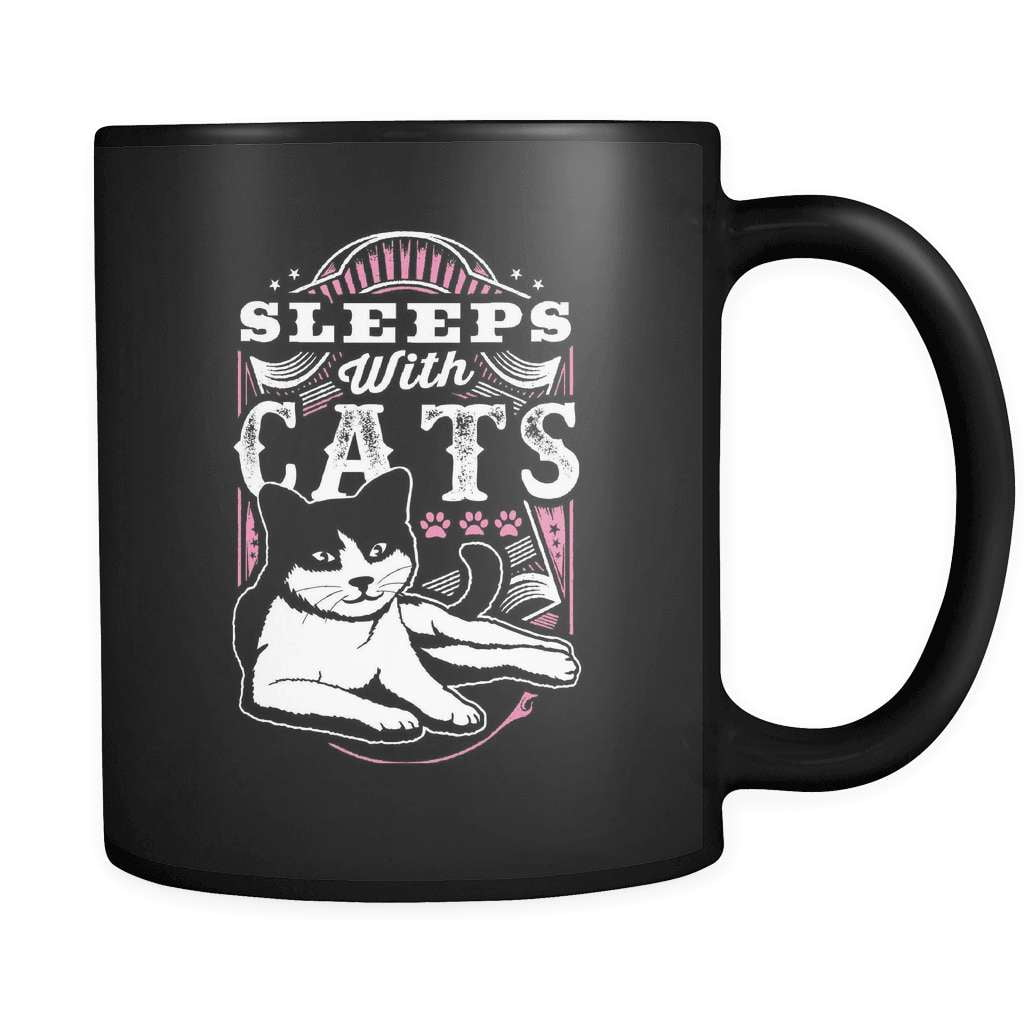 Sleep With Cats - Luxury Mug