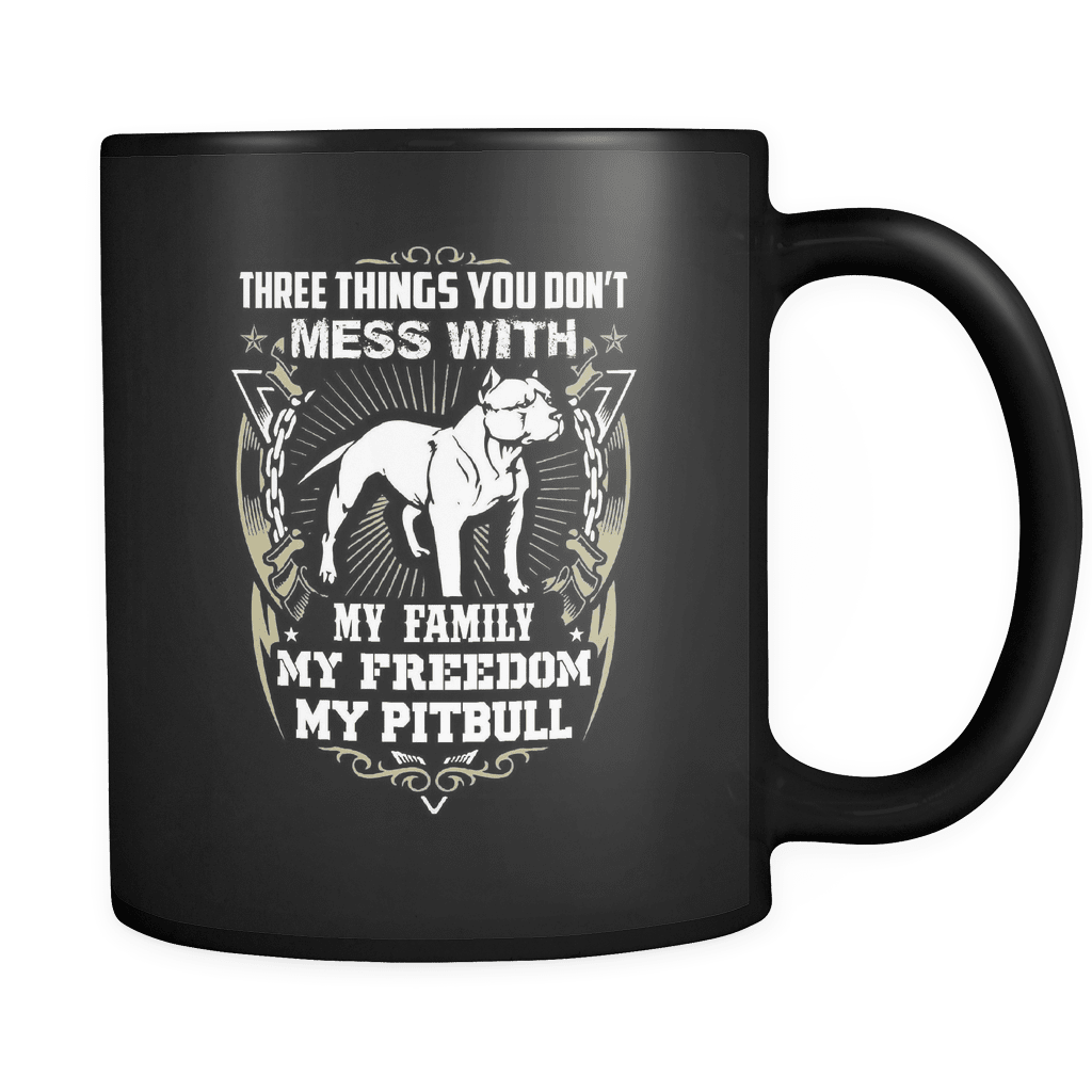 Three Things - Luxury Pit Bull Mug