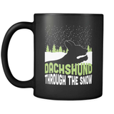 Dachshund Through The Snow - Luxury Mug