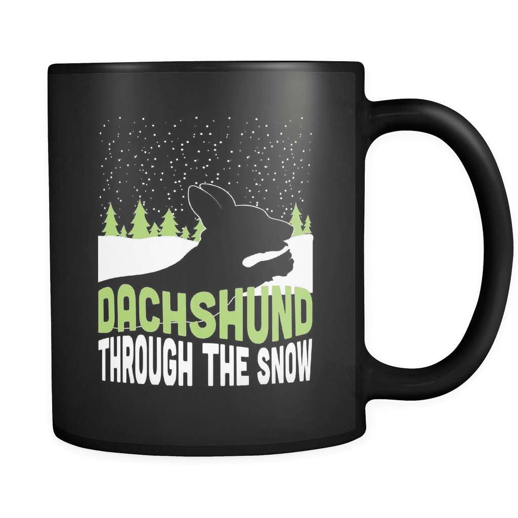 Dachshund Through The Snow - Luxury Mug - snazzyshirtz.com