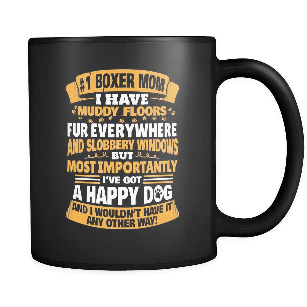 #1 Boxer Mom - Luxury Mug