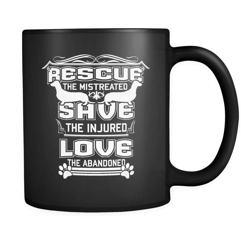 Rescue The Mistreated - Luxury Dachshund Mug