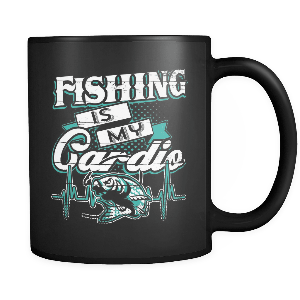 Fishing Is My Cardio - Luxury Fishing Mug