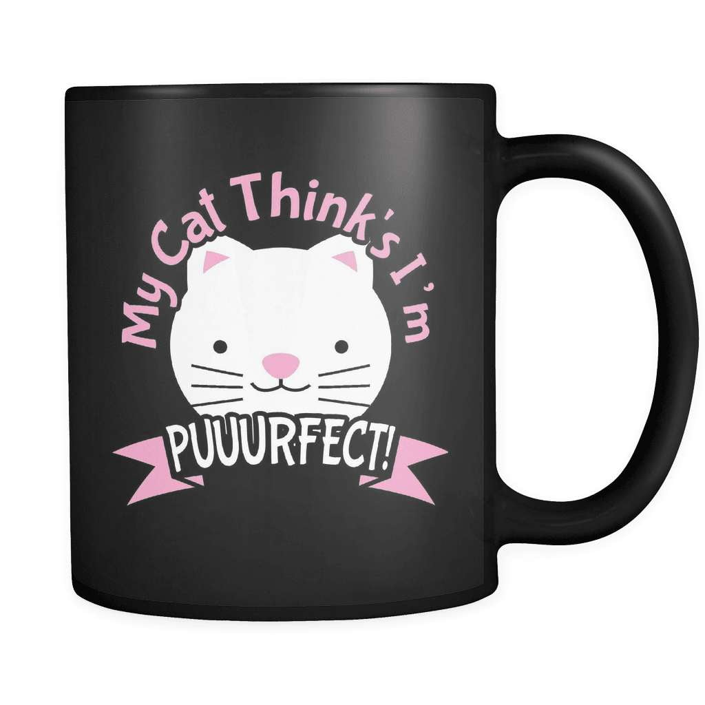 My Cat Thinks I'm Puuurfect - Luxury Mug
