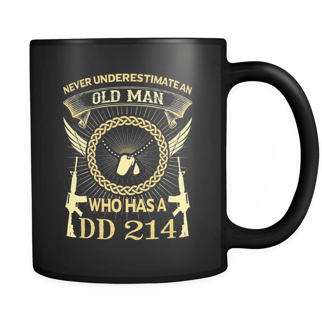 Old Man With A DD214 - Luxury Veteran Mug