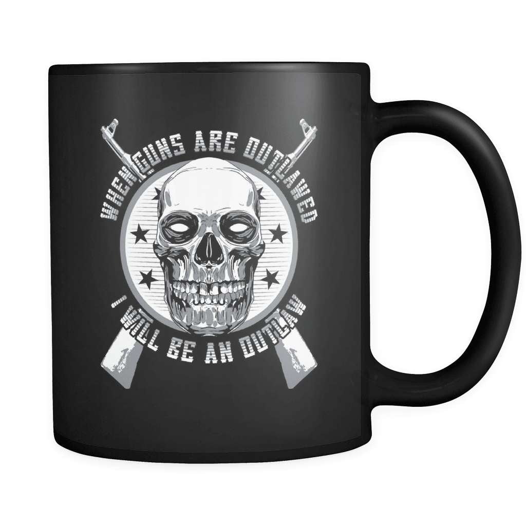 When Guns Are Outlawed - Luxury Mug - snazzyshirtz.com