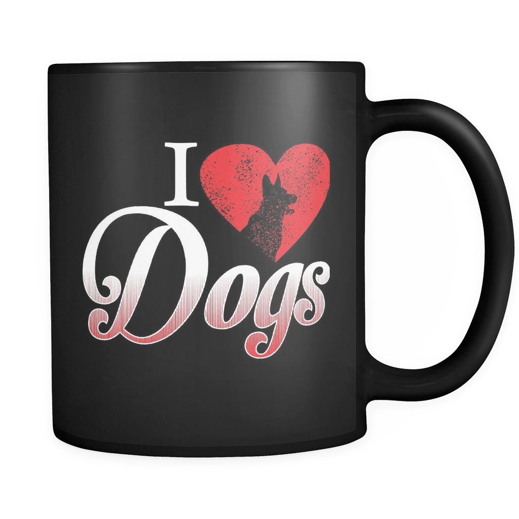 I Love Dogs - Luxury Mug